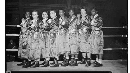 Golden gloves Junior division champions at the Civic Arena, 1958.
