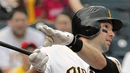 Neil Walker, in his first day as the Pirates&#039; regular second baseman, went 2 for 4 with a lineout and a deep flyout Monday at PNC Park.