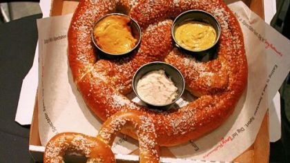That is one huge pretzel.