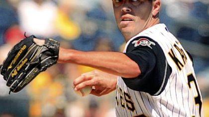 The Pirates recalled pitcher Jeff Karstens from Class AAA Indianapolis.