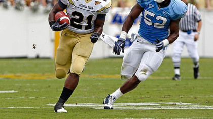The Steelers drafted Georgia Tech running back Jonathan Dwyer in the sixth round.