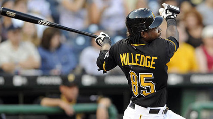 Lastings Miledge will open the second half of the season as the Pirates' starting right fielder.