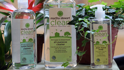 Home maven Martha Stewart has launched a new line of cleaning products and a Homekeeping Handbook.