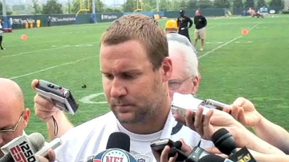 Ben Roethlisberger talked for the first time Thursday since he was cleared to resume team activities by the league office.