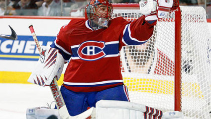 Canadiens goaltender Jaroslav Halak stopped 131 of the 134 shots he faced in the last three games.