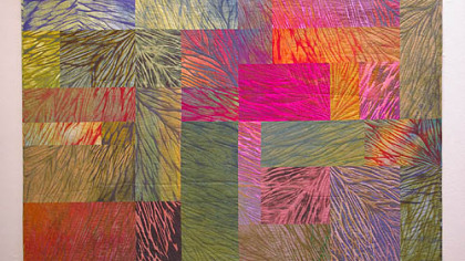 Jan Myers-Newbury&#039;s quilted shibori &quot;Wildfire&quot; is part of this year&#039;s Fiberart International, on display at Society for Contemporary Craft and the Pittsburgh Center for the Arts through Aug. 22.