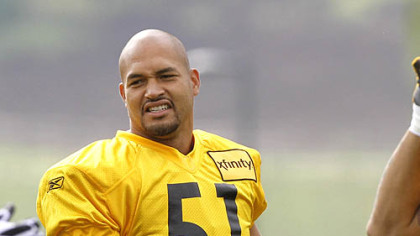 Steelers lienbacker James Farrior is entering his 14th NFL season.