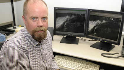 Dr. Michael Ramsey, a University of Pittsburgh volcanologist, keeps tabs on volcano eruptions around the world from his Pittsburgh office.