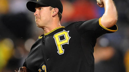 Zach Duke will try to stop the Pirates' six-game losing streak.
