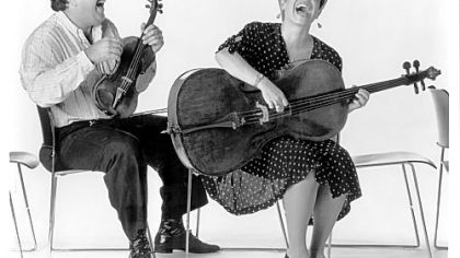 Andres Cardenes and pso cellist Anne Martindale Williams from 1989.