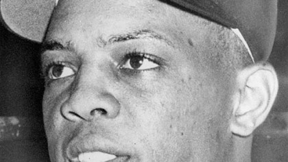 Willie Mays is shown just before he played his first game in the majors, May 25, 1951, as a member of the New York Giants.