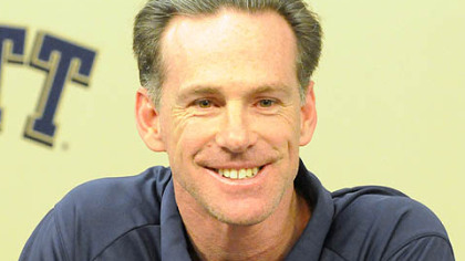 Pitt basketball head coach Jamie Dixon talks to the media at a press conference, Wednesday.