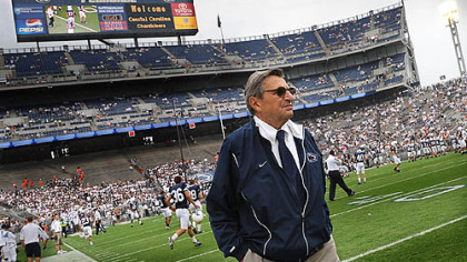 Penn State coach Joe Paterno.