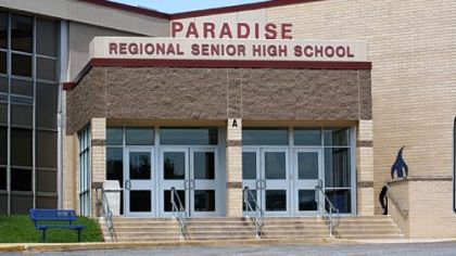 "Franklin Regional High School, which is being called Paradise Regional High School in a movie being filmed there called ""I Am Number Four."""