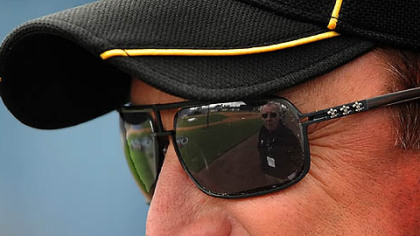 Pirates manager John Russell has a 129-194 record with the club in two seasons.