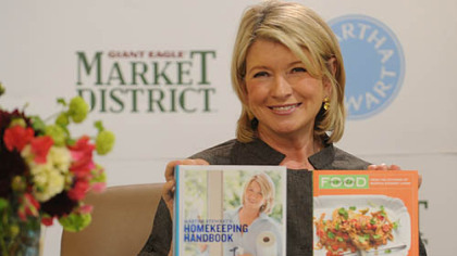 Martha Stewart with her new books at the Giant Eagle Marketplace in Robinson.