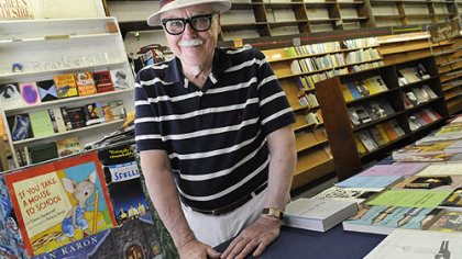 Jay Dantry, owner of Jay&#039;s Bookstore in Oakland, which closed after 53 years of business.