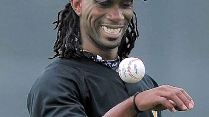 Andrew McCutchen shows he can juggle a baseball, too.