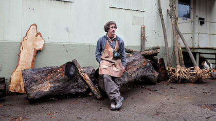 John Metzler at his Urban Tree Forge studio.