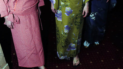 From left, Chiseko Hauakawa, Mayuko Matsunaga and Matsumi Nakeo.