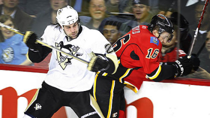 Penguins forward Eric Godard might miss Thursday's game with the Bruins.
