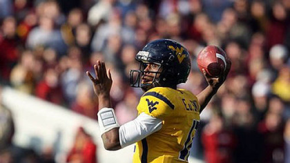 West Virginia quarterback Geno Smith.