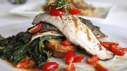 Grilled Mediterranean bronzini is on the menu at Iovino's Cafe in Mt. Lebanon.