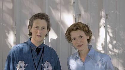 Claire Danes Temple on Claire Danes  Right  Portrays Temple Grandin In A New Hbo Film
