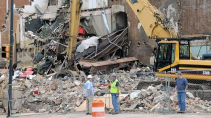 Demolition of the South Hills Theater on West Liberty Avenue in Dormont is under way.