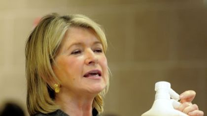 Martha Stewart talks about her new line of home cleaning products during a visit to the Giant Eagle Market District, Robinson, in May.