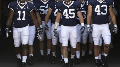 Penn State linebackers Navorro Bowman, left, Sean Lee, center, and Josh Hull were each selected in the NFL draft.