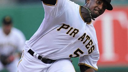 Pirates pitcher James McDonald throws Thursday at PNC Park.