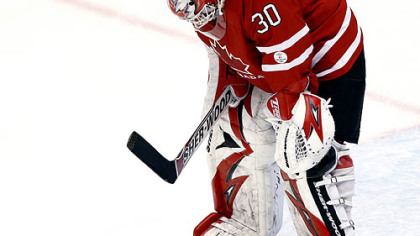 Canada goaltender Martin Brodeur gave up four goals in the 5-3 loss to the U.S. Sunday.