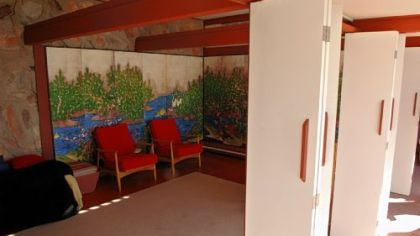One of the bedrooms at Taliesin West.