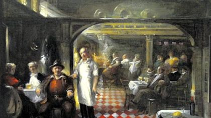 &quot;Little Italy&quot; by Frank Mason depicts the interior of the New York bar he lived above.