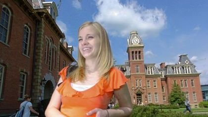 Jessica Lynch at West Virginia University in April 2006.