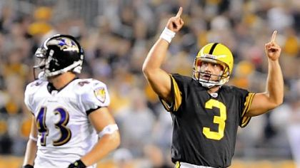 Steelers kicker Jeff Reed has made 77 of 87 field goal attempts over the past three seasons.