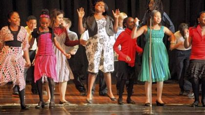 Fifth-graders perform during the Pittsburgh Dancing Classroom show at Pittsburgh Allegheny K-5 school on the North Side.