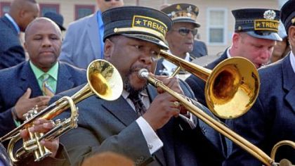 "Wendell Pierce plays Antoine Batiste, a musician dealing with the aftermath of Hurricane Katrina, in HBO's ""Treme."""