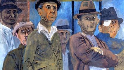 "Ben Shahn's ""Unemployed,"" 1938, is part of the Westermoreland Museum of American Art's ""Concerning the 1930s in Art"" exhibition."