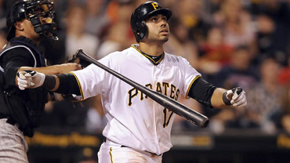 Pedro Alvarez hits a walk-off home run against the Rockies in the 10th inning Saturday night at PNC Park.