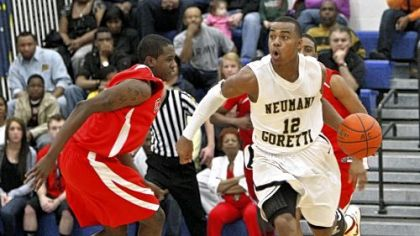 Neumann-Goretti&#039;s Tony Chennault (12) is a Wake Forest recruit.