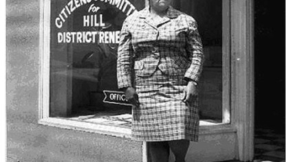 Mrs. Frankie Pace of Pace&#039;s Citizen&#039;s Committee for Hill District Renewal Office circa 1960-1975