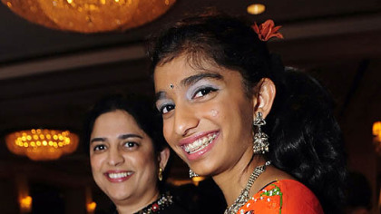 Sandhya Rao, left, and daughter Anjah Premmkumay.
