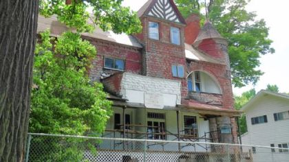 Volunteers are making progress on rehabilitation of the Cresson house built by Pittsburgh steelmaker B. F. Jones in 1887-88.