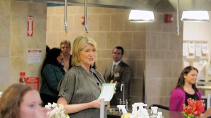 Martha Stewart talks about her new line, Clean, at Settler's Ridge Giant Eagle.
