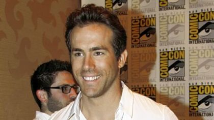 "Actor Ryan Reynolds arrives at press line before a panel for his movie ""Green Lantern"" at Comic-Con International Saturday, July 24, 2010 in San Diego."