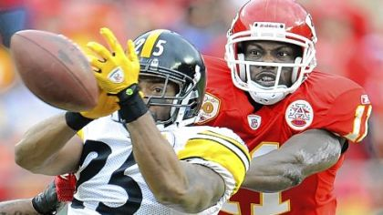 Ryan Clark misses an interception against the Chiefs Nov. 22.
