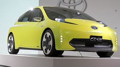 The Toyota FT-CH compact hybrid concept car