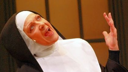 Lenora Nemetz rehearses for Nunsense, as CLO Cabaret production.